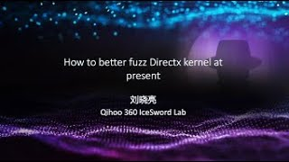 How to Better Fuzz Windows 10 Directx Kernel at Present