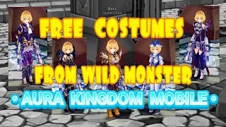 AURA KINGDOM MOBILE : HOW TO GET FREE COSTUMES FROM WILD MONSTER