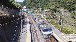 【EF64】中央線貨物列車 古虎渓通過