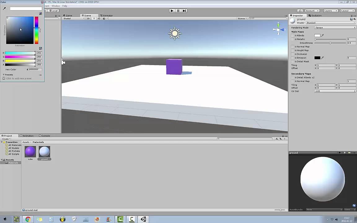 Unity 5 - Making An Object Move With WASD/Arrow Keys