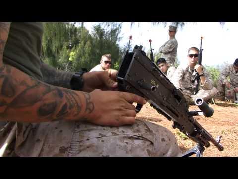 U.S. Marines and French Airborne - Mortar & M240 Machine gun (AMERCAL PART 14)