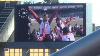 レッズフェスタ2015で披露された、浦和レッズレディース田尻選手&乗松...