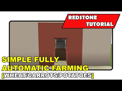 "Fully Automatic Farming (Simple) ""Redstone Tutorial"" (Minecraft Xbox TU19/PlayStation CU7/PS Vita)"