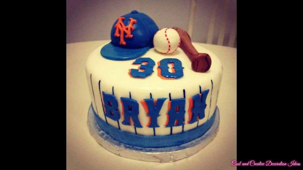 Baseball Cake Design Decorating Ideas - YouTube