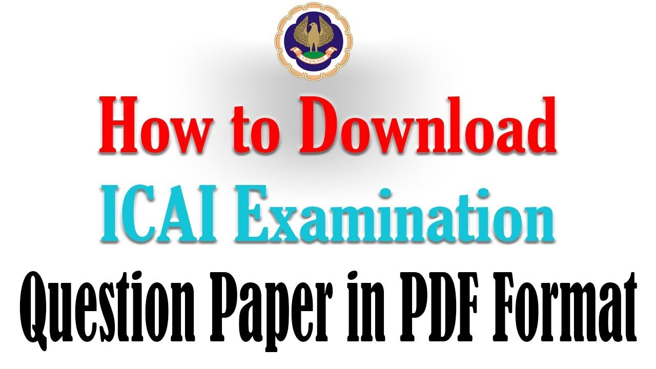 CA Intermediate Question Papers May 2019 | Last 16 terms