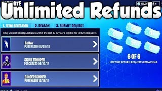 *GLITCH* How To Get UNLIMITED Refunds In Fortnite (New Method)