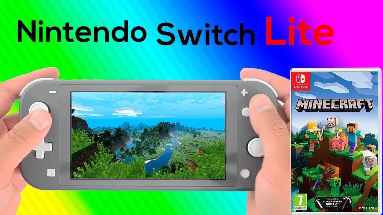 Minecraft Nintendo Switch Lite Gameplay