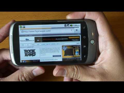 Tour por Android 2.2 Froyo en Google Nexus One y Las Nuevas Caracteristicas