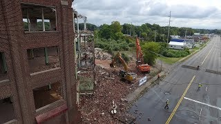 Demolition of former Nestle plant in Fulton, NY
