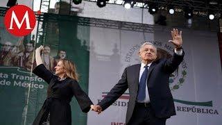 Así fue el festejo de AMLO en el Zócalo a un año del triunfo electoral