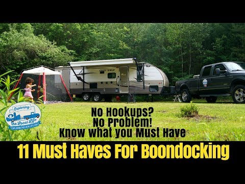 11 Must Haves for Boondocking - Travel Trailer Living - Frugal RVing