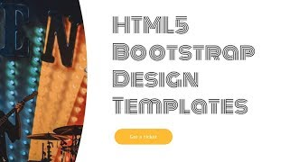Bootstrap Design Templates - Free HTML Website Templates