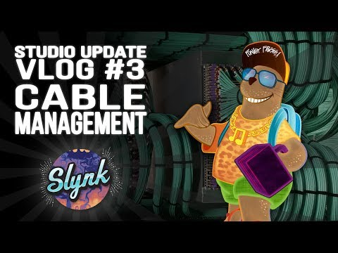 Slynk - Update VLOG #3 (Cable Management in my Music Studio)
