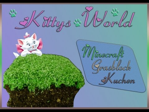 Minecraft-Grasblock-Kuchen backen + Outtakes!! (Minecraft Cake)