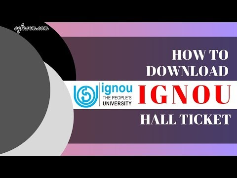 How To Download IGNOU Hall Ticket 2019