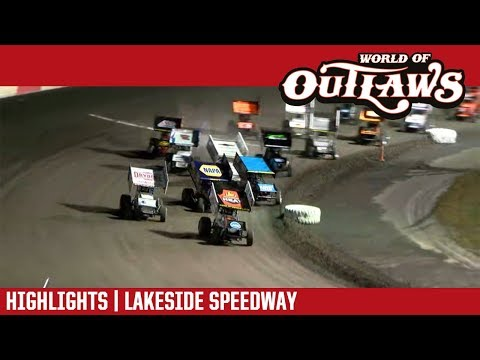 World of Outlaws Craftsman Sprint Cars Lakeside Speedway October 19, 2018 | HIGHLIGHTS