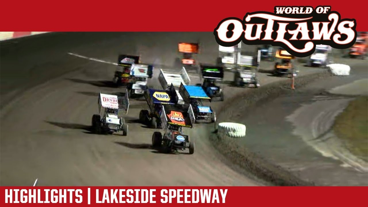 world-of-outlaws-craftsman-sprint-cars-lakeside-speedway-october-19-2018-highlights