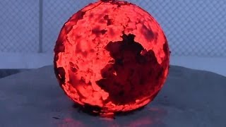Repeat youtube video Red Hot Cannonball in Water/Ice