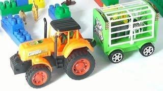 Мультик про трактор. Учим диких животных. Трактор доставляет животных в зоопарк