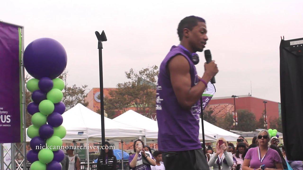 Nick Cannon Walk to End Lupus Now LA Speech