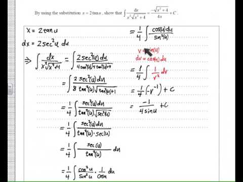 IB hl math tricky integration problem