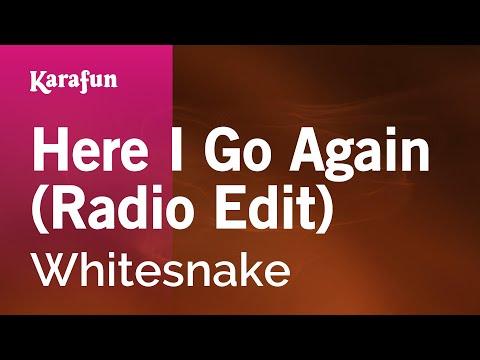 Karaoke Here I Go Again (Radio Edit) - Whitesnake *