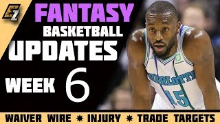 Week 6 Fantasy Basketball Updates/Trade Targets/Waiver Wire Pickups 2018-2019