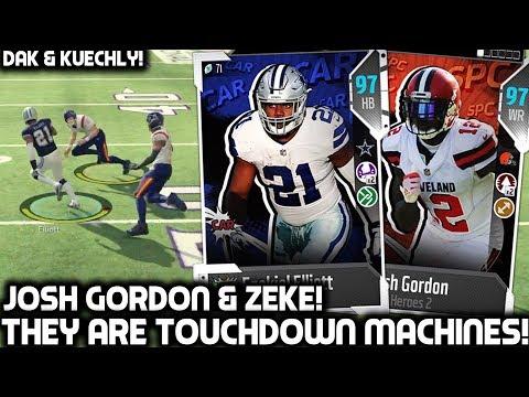 EZEKIEL ELLIOTT & JOSH GORDON ARE TOUCHDOWN MACHINES! Madden 18 Ultimate Team