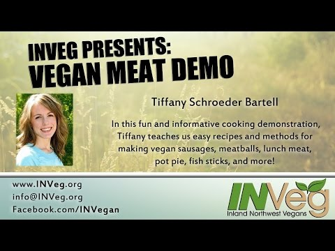 INVEG Vegan Meat Demo by Tiffany