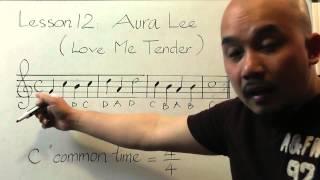 Tự học guitar căn bản bài 12 ( Love me tender, part 1)