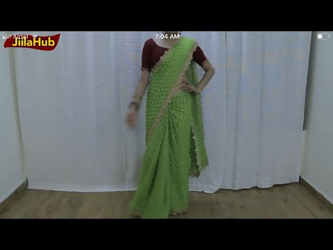 How to Wear a Indian Saree Drape to look extra tall & Slim in Festivals