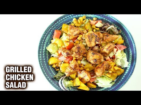 grilled-chicken-salad-|-healthy-chicken-salad-|-how-to-make-chicken-salad-with-dressing-|-smita