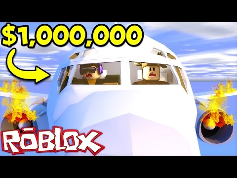 CRASHING A $1,000,000 PLANE IN ROBLOX! (Roblox Plane Simulator)