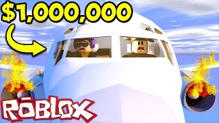 CRASHING A $1,000,000 PLANE IN ROBLOX! (Roblox Plane Simulator)