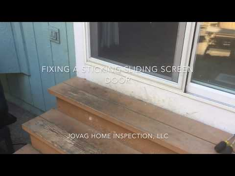 Fixing A Sticking Sliding Screen Door  - YouTube