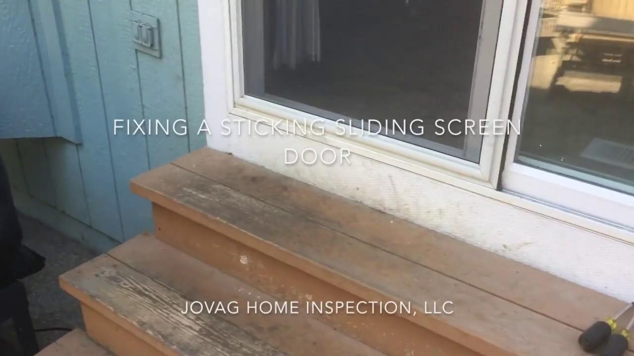Fixing A Sticking Sliding Screen Door Youtube