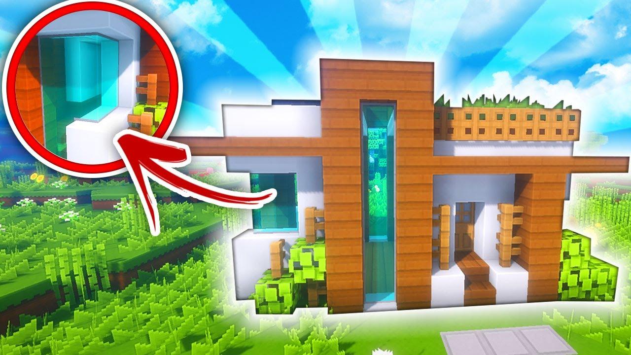 Minecraft casa moderna con ventanas curvas tutorial for Casa moderna gigante minecraft