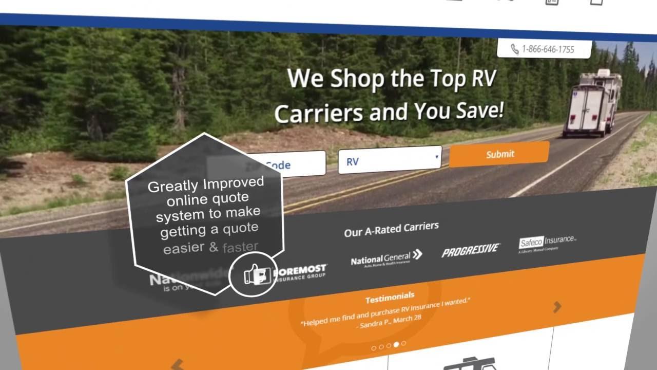 Rv Insurance Quote Rv Insurance Online  Rvinsurance  Youtube