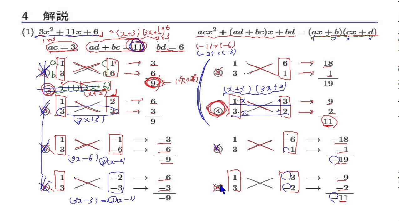 数学I 「式の計算」 3-3 たすき ...