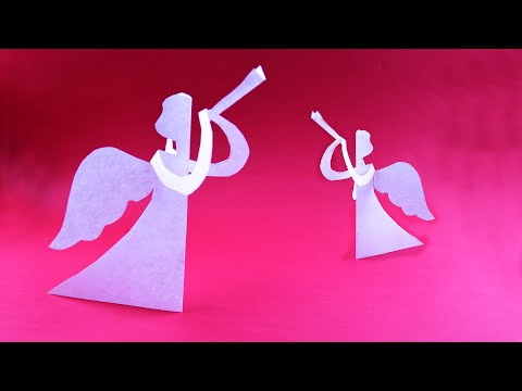 How to make paper Herald Angel ☃ DIY Christmas decoration ideas