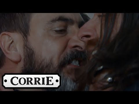 Coronation Street - Peter Becomes Violent in His Search for Carla