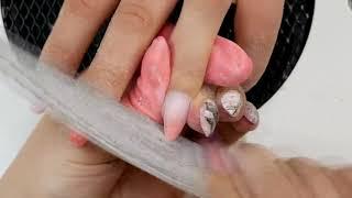Аквариумный дизайн ногтей с градиентом Маникюр с анималистичным принтом Шулунова Дарья