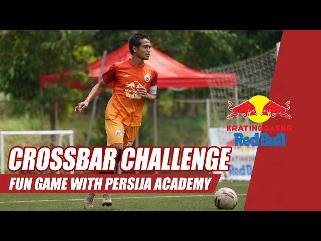 CROSSBAR CHALLENGE!!! Kratingdaeng Red Bull Fun Games with Persija Academy