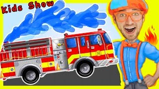 Videos For Children - Fire Truck Nursery Rhymes Playlist | by Blippi