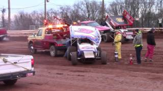 Susquehanna Speedway 410 and 358 Sprint Car Highlights 4-12-16