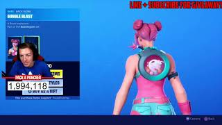 Streamers React to *NEW* Bubble Gum Skin & Fortnite Lucky & Unlucky Moments!