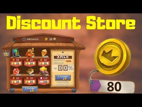 Spending 80 Coins For Discount Store   Castle Clash