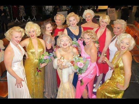 Marilyn Monroe lookalike contest Amsterdam Nieuwe kerk