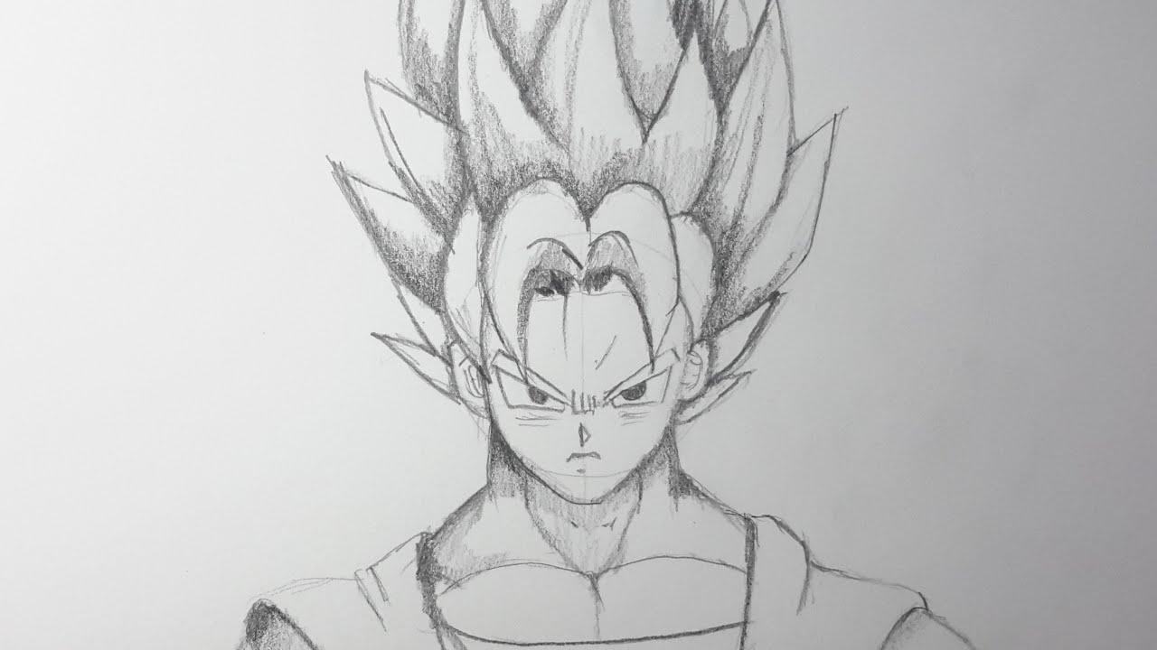Como dibujar a Goku SSJ paso a paso [El Dibujante] - YouTube