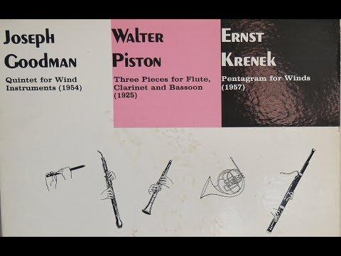 Soni Ventorum Wind Quintet  - Walter Piston, Ernst Krenek, Joseph Goodman (1965) Lyrichord LLST 7158